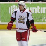 Tomas Jurco skates during a stop in play in a Grand Rapids Griffins game.