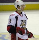 Brett Skinner skates during a stop in play in a Grand Rapids Griffins game.