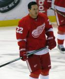 Jordin Tootoo skates during pre-game warmups.