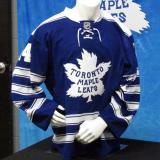 The Toronto Maple Leafs' 2014 Winter Classic jersey as displayed at the announcement event.