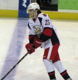 Calle Jarnkrok skates across the blue line during pre-game warmups before a Grand Rapids Griffins game.