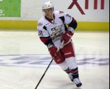Luke Glendening skates during pre-game warmups before a Grand Rapids Griffins game.