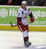 Mitch Callahan skates during pre-game warmups before a Grand Rapids Griffins game.