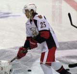 Calle Jarnkrok skates at center ice during pre-game warmups before a Grand Rapids Griffins game.