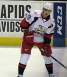 Tomas Jurco skates at the blue line during pre-game warmups before a Grand Rapids Griffins game.