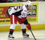 Calle Jarnkrok gets set for a faceoff during a Grand Rapids Griffins game.