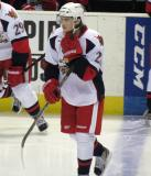 Calle Jarnkrok skates onto the ice during a stop in play in a Grand Rapids Griffins game.