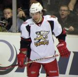 Francis Pare skates during a stop in play in a Grand Rapids Griffins game.