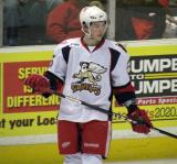 Adam Almquist skates during a stop in play in a Grand Rapids Griffins game.