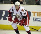 Tomas Jurco jumps up on a faceoff during a Grand Rapids Griffins game.