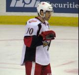 Jeff Hoggan skates during a stop in play in a Grand Rapids Griffins game.