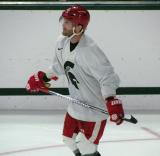 Daniel Cleary skates during a session of the 2013 MSU Pro Camp.
