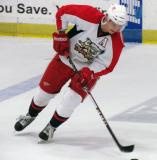 Andrej Nestrasil skates with the puck during pre-game warmups before a Grand Rapids Griffins preseason game.