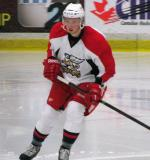 Marek Tvrdon tracks the puck during a Grand Rapids Griffins preseason game.