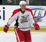 Richard Nedomlel skates during a stop in play in a Grand Rapids Griffins preseason game.