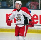 Marek Tvrdon skates during a stop in play in a Grand Rapids Griffins preseason game.
