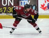 Bryan Lerg of the Lake Erie Monsters sets up for a faceoff during preseason game against the Grand Rapids Griffins.