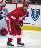 Brendan Smith gets set for a faceoff.