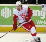 Alexey Marchenko skates during pre-game warmups before a Grand Rapids Griffins game.