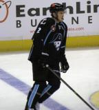 Anthony Bitetto of the Milwaukee Admirals skates at the  blue line during pre-game warmups before a game against the Grand Rapids Griffins.