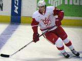 Alexey Marchenko skates in the neutral zone during pre-game warmups before a Grand Rapids Griffins game.