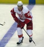Jeff Hoggan skates along the blue line during pre-game warmups before a Grand Rapids Griffins game.