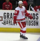 Landon Ferraro skates along the boards during pre-game warmups before a Grand Rapids Griffins game.