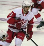 Darren Helm skates during pre-game warmups before a Grand Rapids Griffins game.