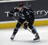 Joe Piskula of the Milwaukee Admirals gets set for a faceoff in game against the Grand Rapids Griffins.