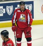 Tomas Jurco stands near the crease during pre-game warmups before a Grand Rapids Griffins game.
