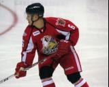 Teemu Pulkkinen skates in his own zone during a Grand Rapids Griffins game.