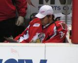 Petr Mrazek charts faceoffs in his role as backup goalie during a Grand Rapids Griffins game.