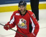 Ryan Sproul watches the play develop during a Grand Rapids Griffins game.