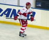 Martin Frk skates along the boards during pre-game warmups before the Grand Rapids Griffins play at Comerica Park.