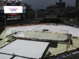 The Hockeytown Winter Festival rink at Comerica Park prior to the Grand Rapids Griffins hosting the Toronto Marlies.