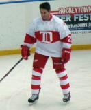 Mathieu Schneider skates during pre-game warmups before the first game of the Alumni Showdown.