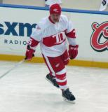 John Ogrodnick skates during pre-game warmups before the first game of the Alumni Showdown.