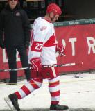 Aaron Ward is introduced before the first game of the Alumni Showdown.