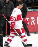 Mathieu Schneider is introduced before the first game of the Alumni Showdown.