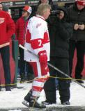 Garry Unger is introduced before the first game of the Alumni Showdown.