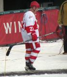 Kevin Miller is introduced before the first game of the Alumni Showdown.