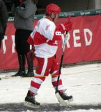 Dennis Polonich is introduced before the first game of the Alumni Showdown.
