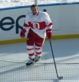 Petr Klima skates prior to the start of the second period of the first game of the Alumni Showdown.