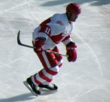 Mathieu Dandenault skates during the first game of the Alumni Showdown.
