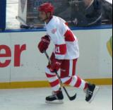 Paul Ysebaert skates along the boards during the second period of the first game of the Alumni Showdown.