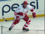 Aaron Ward skates during the second period of the first game of the Alumni Showdown.
