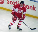 Vyacheslav Kozlov skates during pre-game warmups before the second game of the Alumni Showdown.