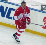 Igor Larionov skates along the boards during pre-game warmups before the second game of the Alumni Showdown.