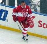 Paul Coffey skates during pre-game warmups before the second game of the Alumni Showdown.