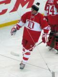 Darren McCarty skates during pre-game warmups before the second game of the Alumni Showdown.